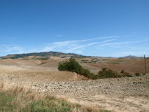 Landscape after harvests Tuscany Royalty Free Stock Image