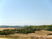 Landscape after harvests Tuscany Stock Image