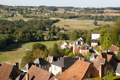 Landscape from Hautefort castle Stock Photography