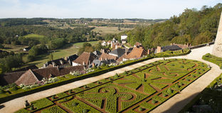 Landscape from Hautefort castle Royalty Free Stock Photos