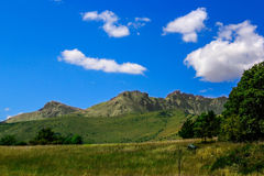 Landscape of hautes alpes. In summer Stock Photos