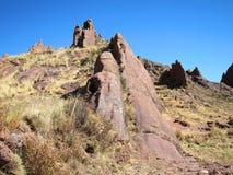 Landscape of Hayu Marca, Peru Royalty Free Stock Photography