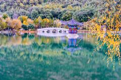 Landscape of Heilongtan Park in Lijiang, Yunnan, China royalty free stock images