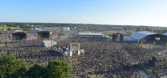 Landscape from Hellfest Festival Stock Photos