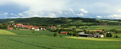 Landscape of Herleshausen Germany Royalty Free Stock Images