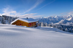 Landscape of hermitage isolated. In the snow Stock Images