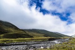 Landscape of high altitude mountain Royalty Free Stock Photo