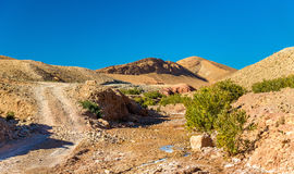 Landscape of the High Atlas Mountains between Ait Ben Ali and Bou Tharar, Morocco Stock Images