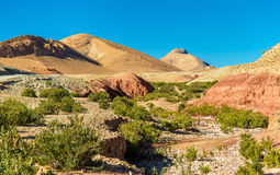 Landscape of the High Atlas Mountains between Ait Ben Ali and Bou Tharar, Morocco Royalty Free Stock Photography