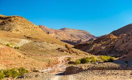 Landscape of the High Atlas Mountains between Ait Ben Ali and Bou Tharar, Morocco Royalty Free Stock Images