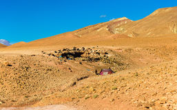 Landscape of the High Atlas Mountains between Ait Ben Ali and Bou Tharar, Morocco Stock Photo