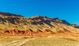 Landscape of the High Atlas Mountains between Ait Ben Ali and Bou Tharar, Morocco Royalty Free Stock Image