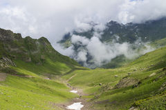 Landscape with high mountain Stock Photography