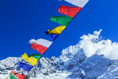Landscape with high mountains in Himalaya Stock Photos