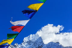 Landscape with high mountains in Himalaya Royalty Free Stock Photos