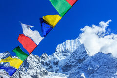 Landscape with high mountains in Himalaya Royalty Free Stock Image