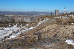 Landscape with high mountains. Nizhny Tagil. Sverdlovsk region. Russia. Royalty Free Stock Image