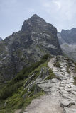 View to Koscielec-peak in the Tatra-Mountains Royalty Free Stock Photo
