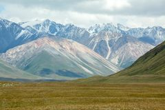 Landscape of high Tien Shan mountains, Kirgizia Stock Image