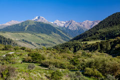Landscape of high Tien Shan mountains Royalty Free Stock Photos