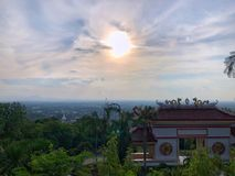 Vector illustration, funny Monkey chimpanzeeLandscape from high view with blue sky. Landscape from high view with blue sky and cloud in Songkhla,Thailand stock images