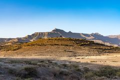 Landscape in the highlands of Lalibela, Ethiopia royalty free stock image