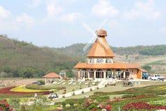 Landscape. Hill Garden House Travel Stock Image