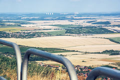 Landscape from the hill Zobor near the Nitra city, Slovakia, Moc Stock Image