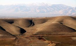 Landscape with hills. In kurdistan in the winter royalty free stock images
