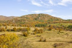 Hills in autumn, Bulgaria Stock Images