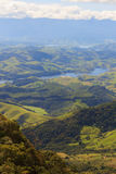 Landscape with hills and river of National park, Brazil royalty free stock photography