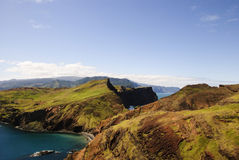 Landscape of Hills and Sea Stock Images