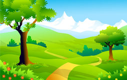 Landscape of Himalaya-Vector Illustration Royalty Free Stock Photo