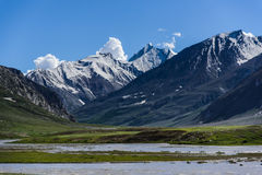 Landscape of Himalayan Mountain and river, Stock Photos