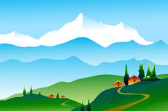 Landscape of Himalayas. Is a  illustration Royalty Free Stock Photo