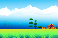 Landscape of Himalayas. Is a  illustration Royalty Free Stock Image