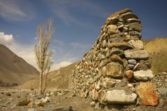Landscape in the Himalayas - the road Muktinath Royalty Free Stock Image
