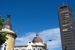 Landscape of historic and modern buildings in Belgrade downtown, Serbia Stock Images