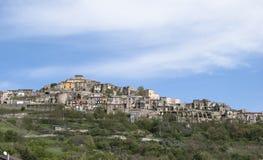 Landscape historical center Calabritto village Stock Photography