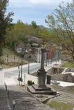 Landscape historical Conza Campania village, Italy Stock Photo