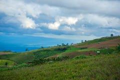 Landscape home hilltop Stock Image