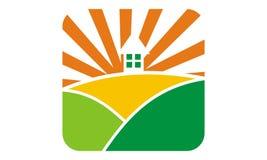 Landscape home Logo Design Template. Vector Stock Photo