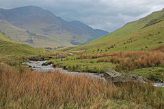 Landscape on the Honister Pass, Lake District Royalty Free Stock Images