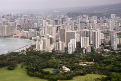 Landscape of Honolulu, Oahu, Hawaii Royalty Free Stock Image