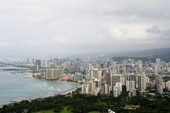 Landscape of Honolulu, Oahu, Hawaii Royalty Free Stock Images