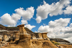 Landscape of Hoodoos and clouds Royalty Free Stock Image