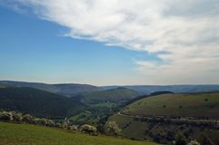 Landscape,horse shoe pass north wales uk. Horse shoe pass near llangollen wales Stock Photo