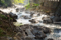 Landscape of hot water stream at Beitou Stock Image
