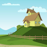 Landscape With House Royalty Free Stock Photo