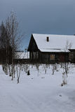 House rural Winter. Landscape of a house rural in Winter Royalty Free Stock Photo